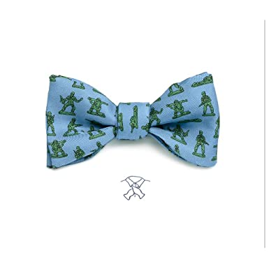 Josh bach mens toy soldiers army men self tie silk bow tie blue josh bach mens toy soldiers army men self tie silk bow tie blue ccuart Choice Image