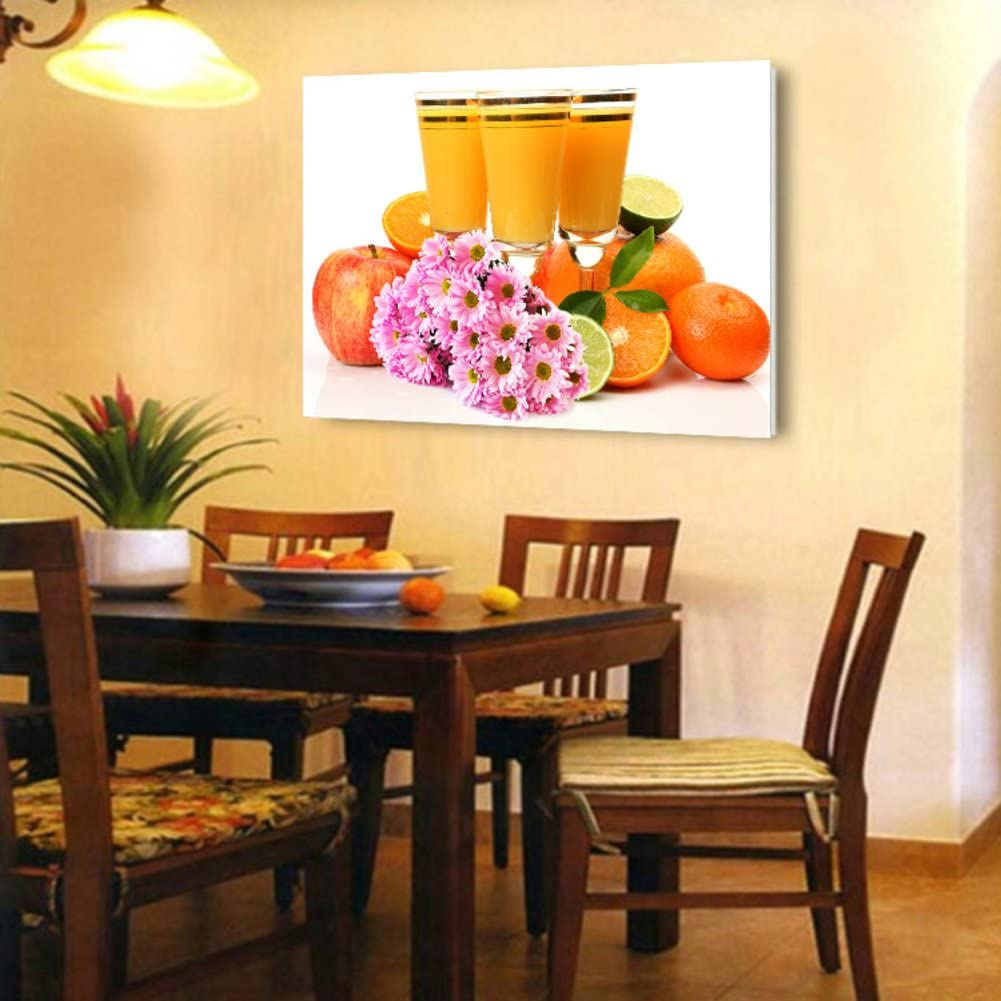 Amazon Com Wangs Simple Decoration Of Modern Painting Kitchen Wall Paintings In The Dining Room Single Fruit Paintings Crystal Picture Frame Glass Mural F 40x60cm 15 7x23 6inch Posters Prints