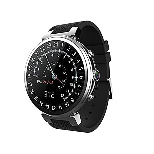 Amazon.com: 3G WIFI I6 Smart Watch Android 5.1 MTK6580 Quad Core RAM 2GB+ROM16GB Smartwatch Support GPS Google play camera for Android IOS (Silver ...