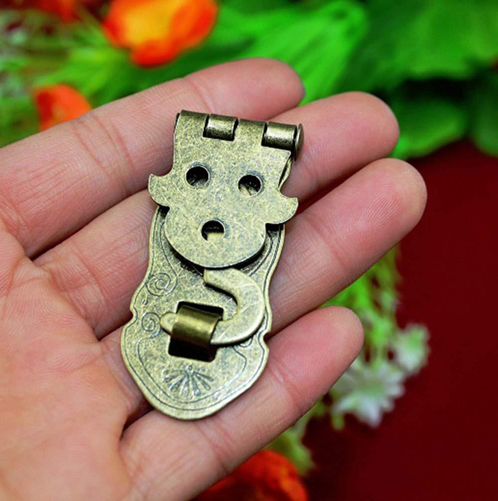 Tagebuch Bronzefarben Vintage-Stil dekorativ 2er-Pack rzdeal Antik-Metall-Verriegelung mit Haken f/ür Notizb/ücher Schmuckkasten aus Holz