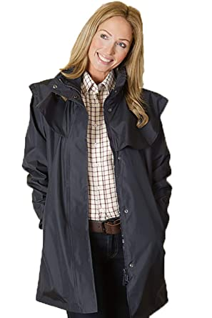 baa4dc65 Sherwood Richmond Ladies 3/4 Length 100% Long Waterproof Rain Coat - Navy  Blue: Amazon.co.uk: Clothing