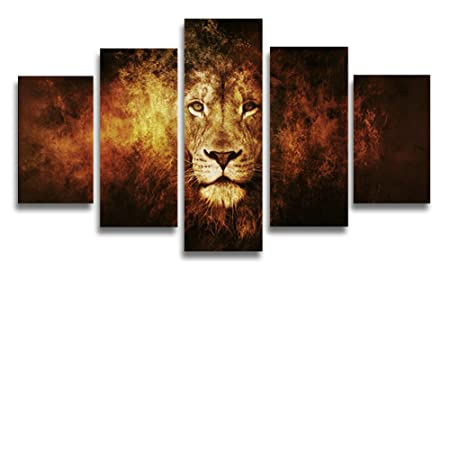 Home Decor Unframed Modern Art Oil Painting Cat-Tiger Print Canvas Wall Picture