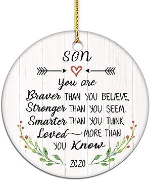 2020 Christmas Ornaments For Son Amazon.com: VILIGHT Congratulation and Graduation Gift for Son