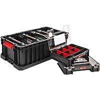 Set Qbrick Systeem Two Box + 6 x Organizer Multi 6-delig assortiment doos kleine onderdelen sorteerdoos groot met deksel…
