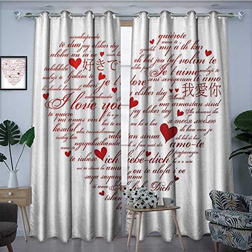 Cortina Impermeable para Ventana con Texto I Love You, con Texto I ...