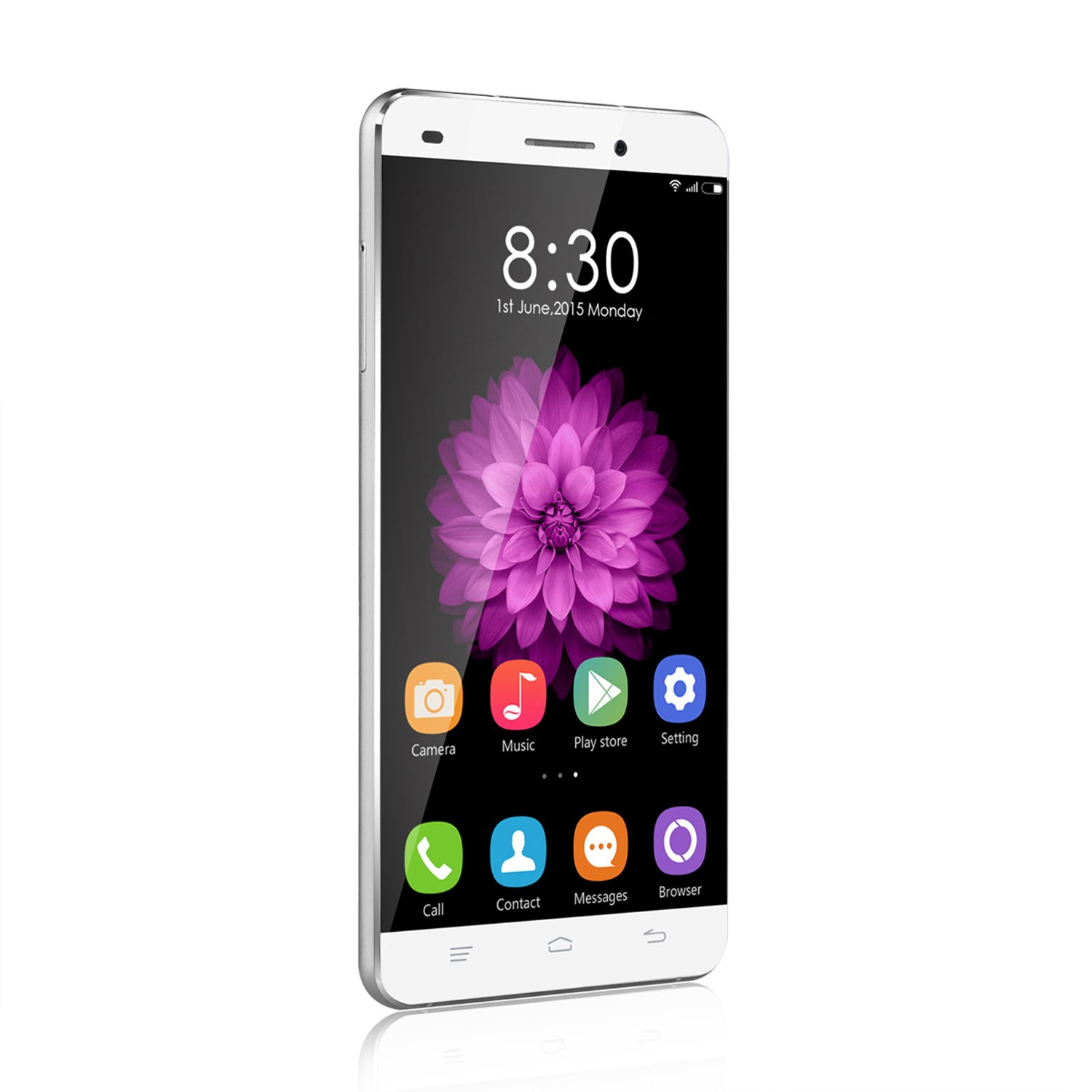 OUKITEL Universe Tap U8(Android 5.1/Fingerprint Touch/Metal frame/4G LTE) 5.5 Inch 2.5D Screen MTK6735 Quad Core Dual SIM Smartphone 13MP CAM 2GB RAM 16GB ...