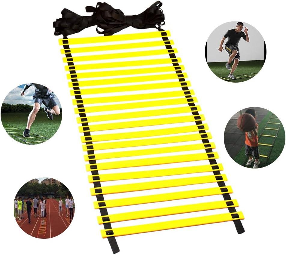 Escalera de entrenamiento Qtiwe Sports de fútbol, velocidad, coordinación y agilidad, 6 metros: Amazon.es: Deportes y aire libre