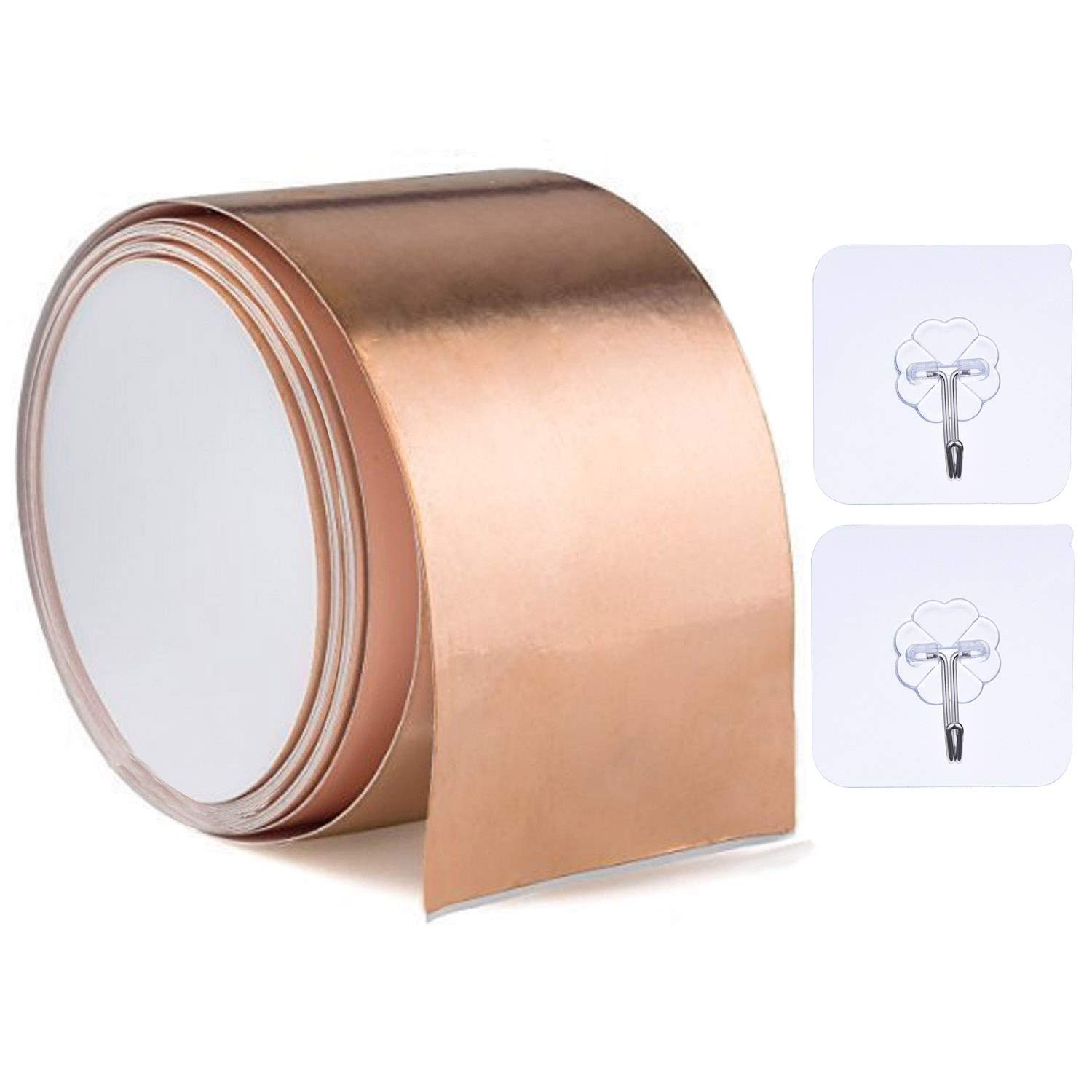 Copper Foil Tape Shielding Tapes 16 Feet X 1.97 Inches for Guitar Guitars, EMI Shielding, Stained Glass, Slug Repellent, Electrical Repairs Usparkle