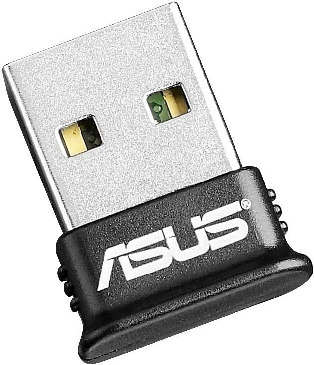 ASUS USB-BT400 USB Adapter w/ Bluetooth Dongle Receiver, Laptop & PC Support, Windows 10 Plug and Play /8/7/XP, Printers, Phones, Headsets, Speakers, Keyboards, Controllers,Black (Renewed)