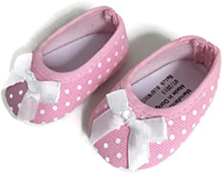 Pink with White Polka Dot Flats Shoes-Fits 18 inch American Girl Doll 2f77c7d60a2