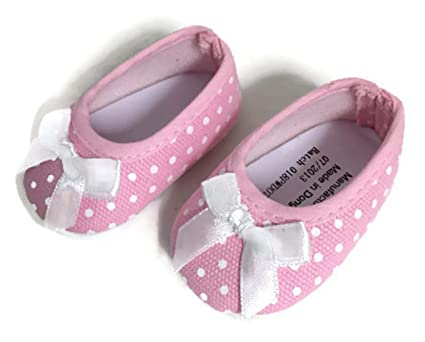 c5523146fabca Amazon.com: Pink with White Polka Dot Flats Shoes-Fits 18 inch ...