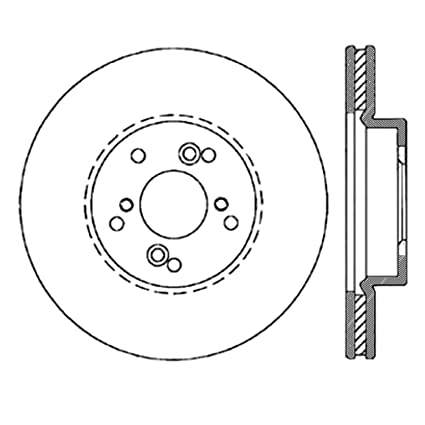StopTech 127 40046R Sport Drilled/Slotted Brake Rotor (Front Right), 1 Pack