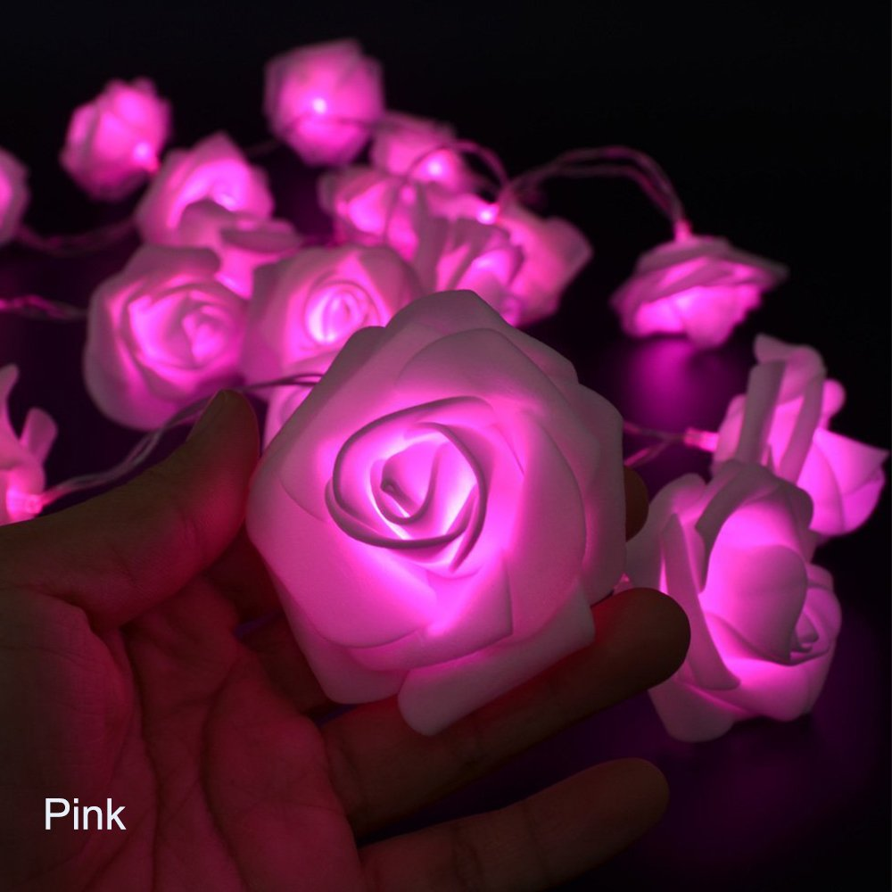 Avanti 20 Led Battery Operated String Romantic Flower Rose Fairy