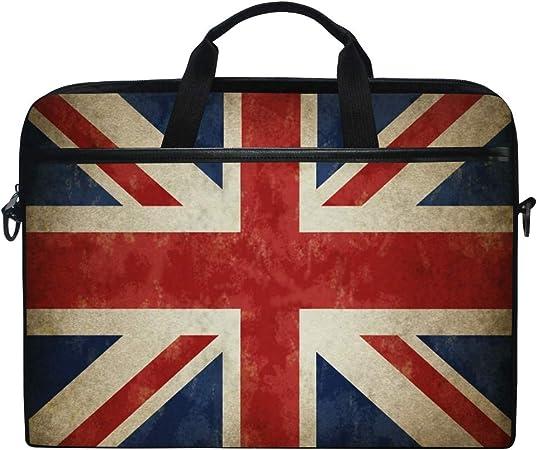 Vintage Union Jack British Flag Printed Laptop Shoulder Bag,Laptop case Handbag Business Messenger Bag Briefcase