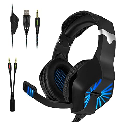 Auriculares Gaming, YZPUSI Stereo LED Multiplataforma Gaming ...