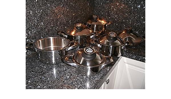 Swiss Made cocina Ware Pot Set 12 piezas Cacerola Saladmaster sartenes cocina al por menor $2199,=Waterless saludable: Amazon.es: Hogar