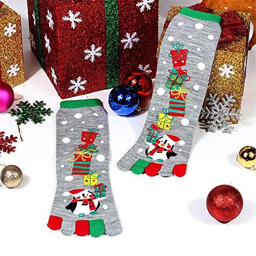 Price comparison product image Connia Hot Unisex Christmas Toe Socks Fashion Winter Mandatory Funny Cartoon Festive 3D Printed Casual Long Socks (Free Size,  A)