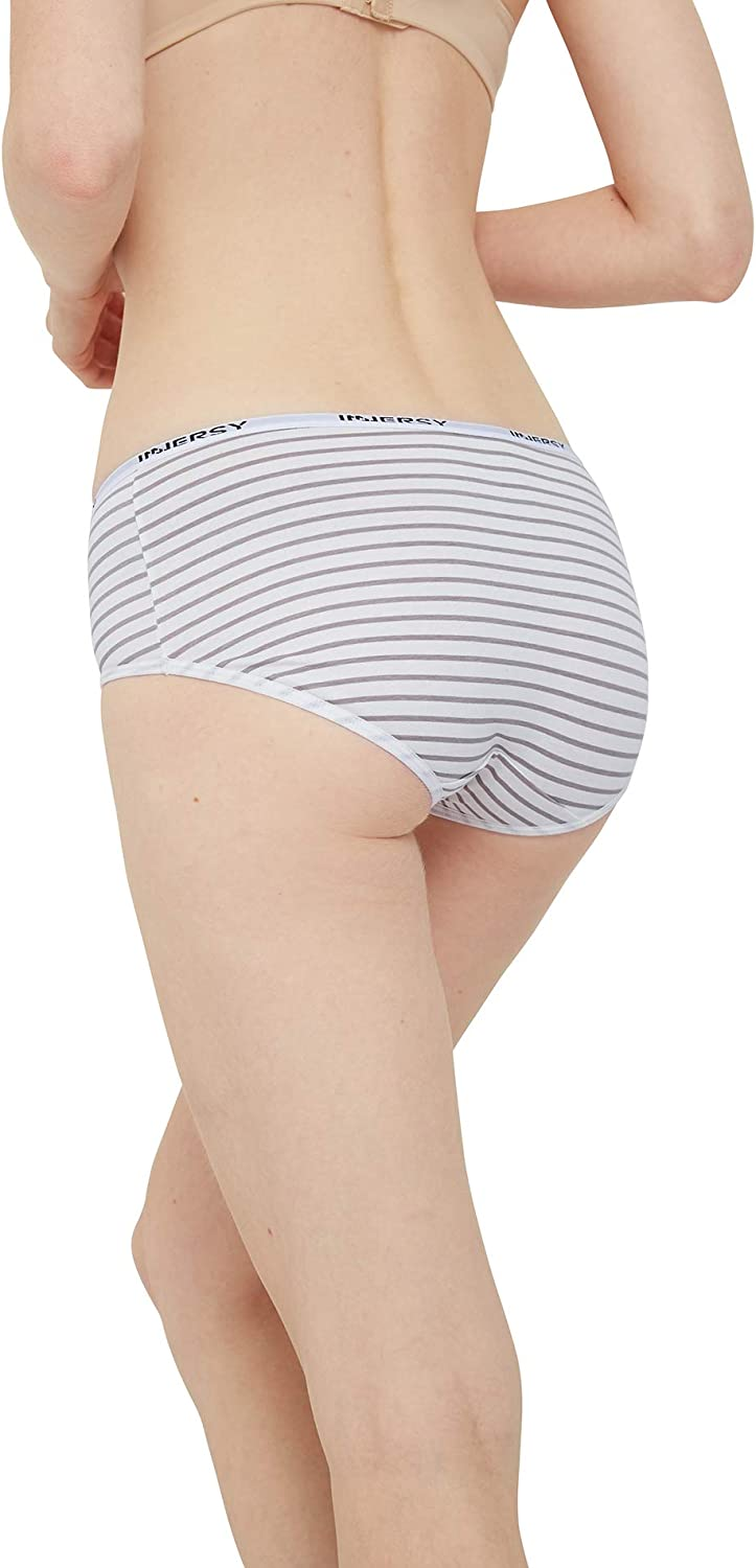 INNERSY Womens Hipster Panties Low Rise Cotton Underwear Briefs Pack of 6