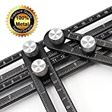 Angleizer Template Tool Universal Ruler Premium, BLENDX Aluminum + SS Material Angle Measurement Tool Heavy Duty Handy Angle Template Tool Ruler for Professional user and DIY-er (stainless steel)