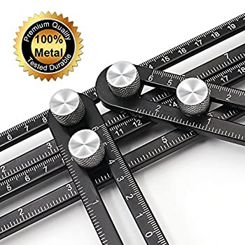Angleizer Template Tool Universal Angularizer Ruler Premium, Blendx Aluminum + Ss Material Angle Measurement Tool Heavy Duty Handy Angle Template Tool Ruler For Professional User & Diy-er 7
