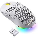 LTC Mosh Pit 16,000 DPI RGB Wireless Ambidextrous Gaming Mouse with Lightweight Honeycomb Shell, Ergonomic Shape for…