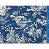 Table Topper Tablecloth Inspiration Toile Color Royal Blue