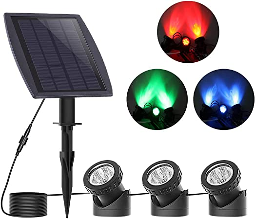 6 Pack 144 LED White Outdoor  Submersible Pond Light