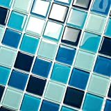Blue Sea - 3-Dimensional Mosaic Decorative Wall Tile(2PC)