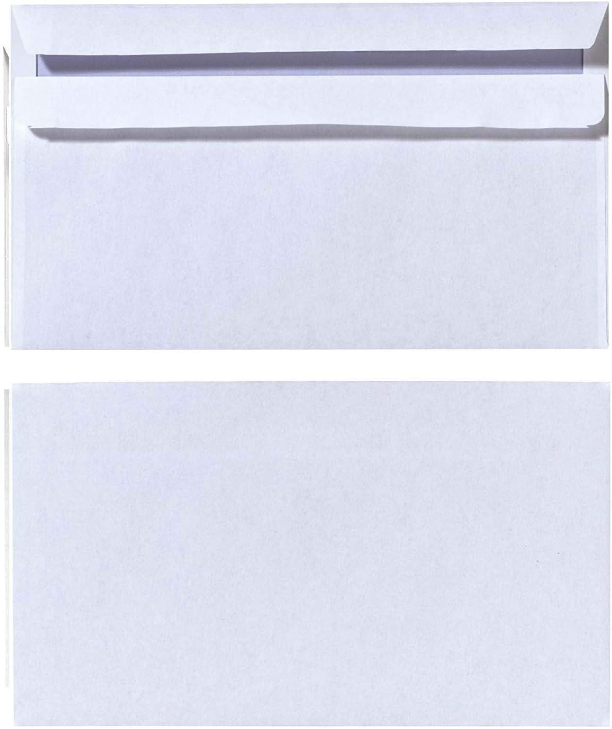 100 St/ück mit Innendruck in Folienpackung Selbstklebend mit Fenster wei/ß Herlitz Briefumschlag DIN Lang 2x 100 St/ück eingeschwei/ßt
