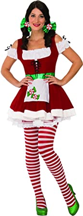Secret Wishes Sexy Christmas Candy Costume Red/White X-Small  sc 1 st  Amazon.com & Amazon.com: Secret Wishes Christmas Candy Costume: Clothing