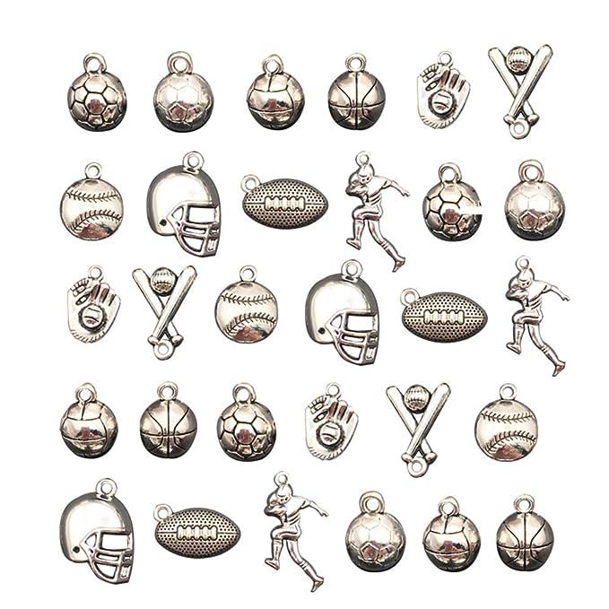30 colgantes de balón de baloncesto con diseño de casco de atleta ...