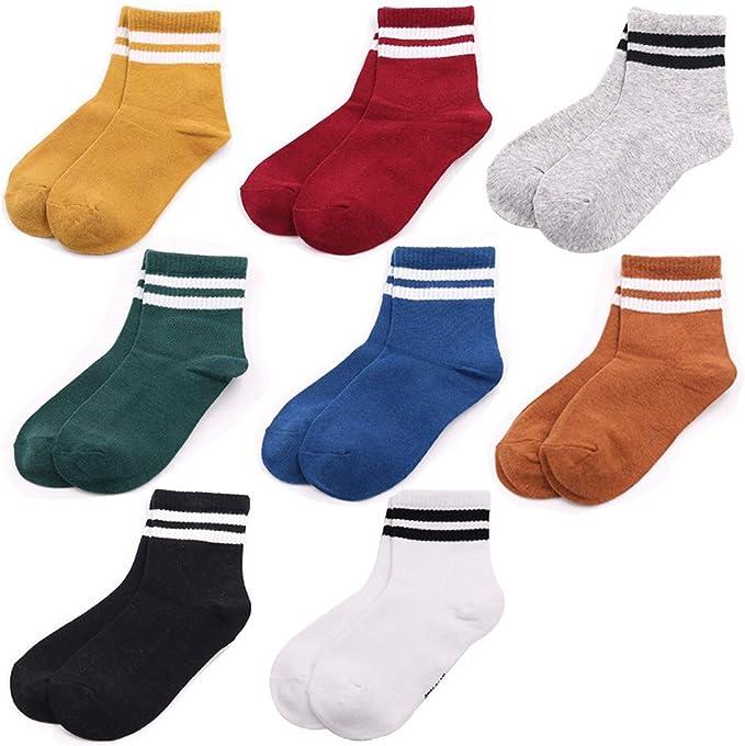 LORYLOLY 8 pares de calcetines para niños, calcetines multicolores ...