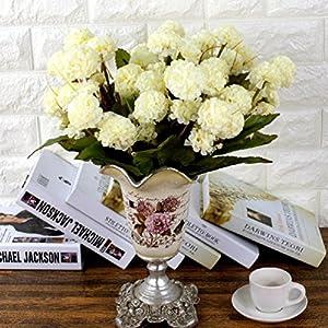 9 Heads Artificial Hydrangea Bouquet Party Home Wedding Fake Bridal Silk Flowers 112