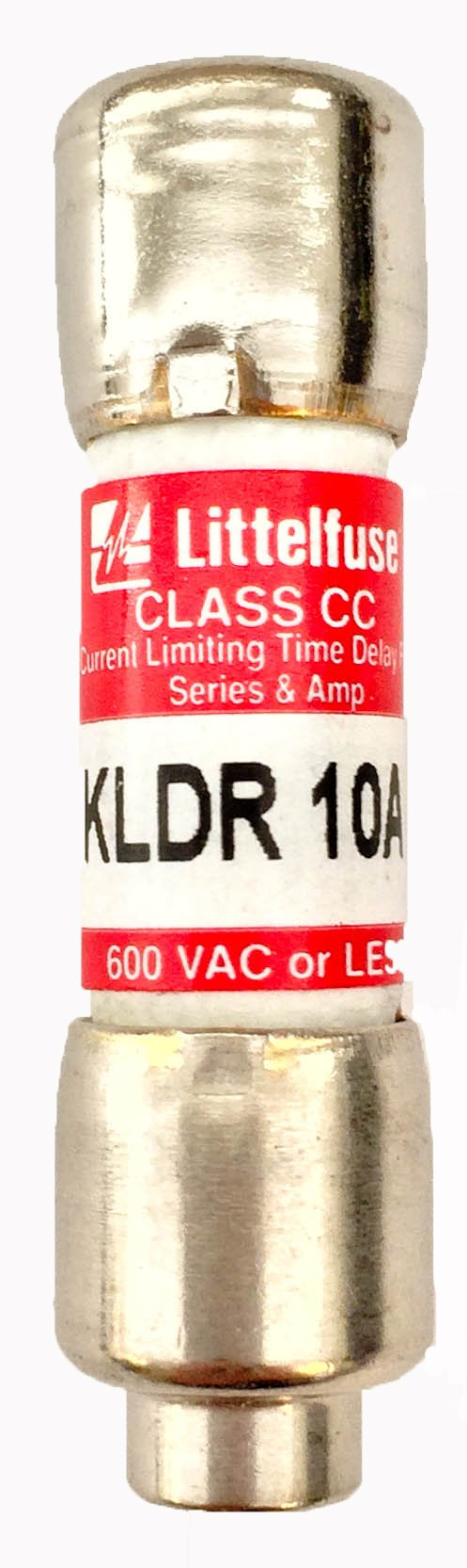 Littelfuse KLDR010.TXP Class CC Fuse, 600V, Time Delay, 10 Amp RoHS (Pack of 10)