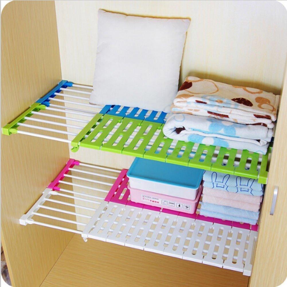 frigoriferi 38-55CM ABS Pdfans ripiano per scaffale regolabile ed estendibile Random librerie guardaroba ideale per armadi da cucina