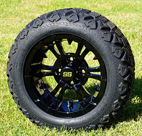 ack Aluminum Wheels and 20X10-12 All Terrain Tires Combo - Set of 4 ()