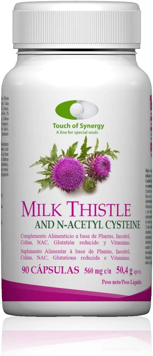 Milk Thistle & N-Acetil Cisteina 90 cápsulas. Refuerza y ...