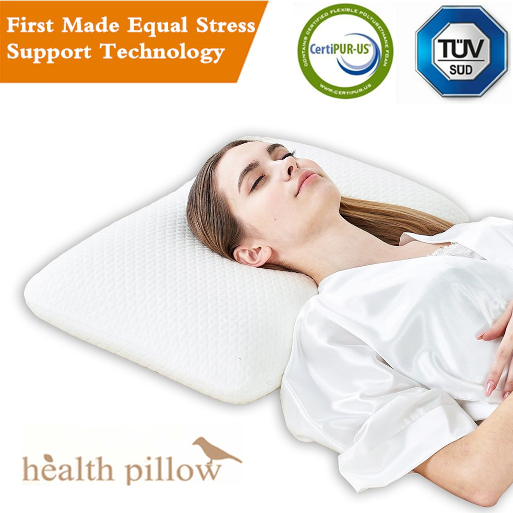 Contour Memory Foam Pillow,Bed Pillows for Sleeping-Dust Mite Resistant & Hypoallergenic (Queen)