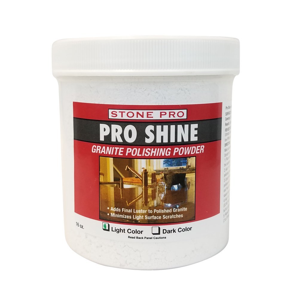 Stone Pro Granite Polishing Powder Pro Shine 1 Pound - Light by Stone Pro