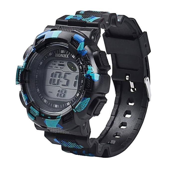 Relojes inteligentes para Hombres moda Camuflaje Los relojes electrónicos deportes al aire libre Resistente contra Agua 50m Esquí,montañismo, correr ...