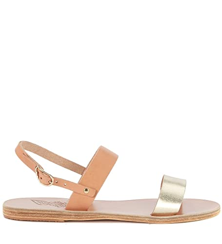 3b6e904f5ed04 Ancient Greek Sandals Women s Clio Natural and Gold Leather Sandal   Amazon.co.uk  Shoes   Bags