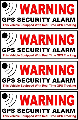 GrandSiri 4Pcs Auto Car Truck GPS Decal Security Stickers Alarm Apply Inside Window