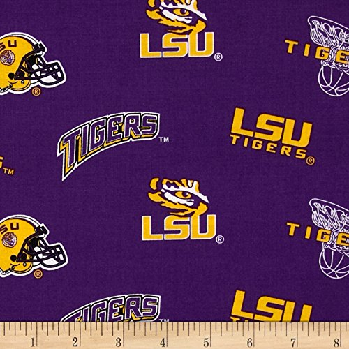 Sykel Enterprises 0317841 Collegiate Cotton Broadcloth Louisiana State University Purple Fabric by The -