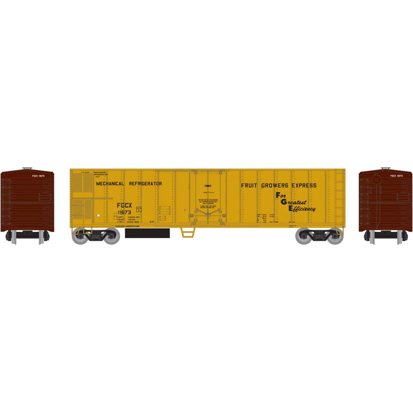 Athearn HO 50' Smooth Side Mechanical Reefer FGE #11673, RND71673