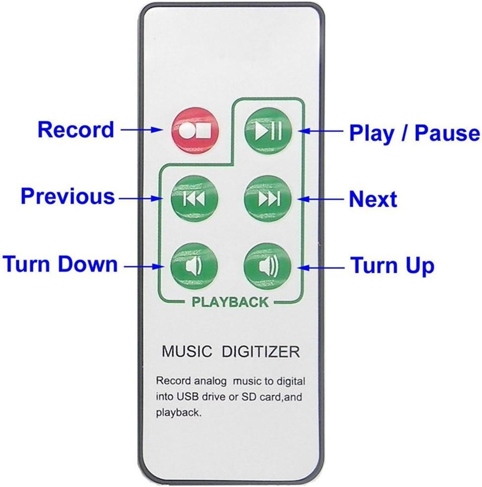 MonkeyJack 3.5mm Jack//RCA Port to MP3 Audio Capture Recorder Music Digitizer Support SD Card /& USB Flash Drive US Standard