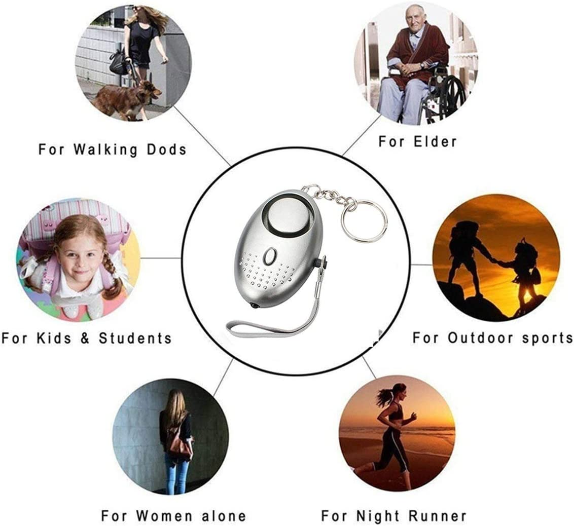 Personal Alarm for Women 140DB Emergency Self-Defense Security Alarm Keychain with LED Light for Women Kids and Elders-Alan Graham ScottVF
