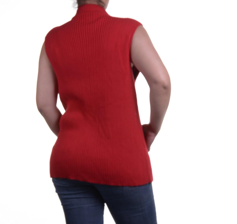 615196ae50d7e Jones New York Signature Plus Size Mixed-Media Vest at Amazon Women s Coats  Shop