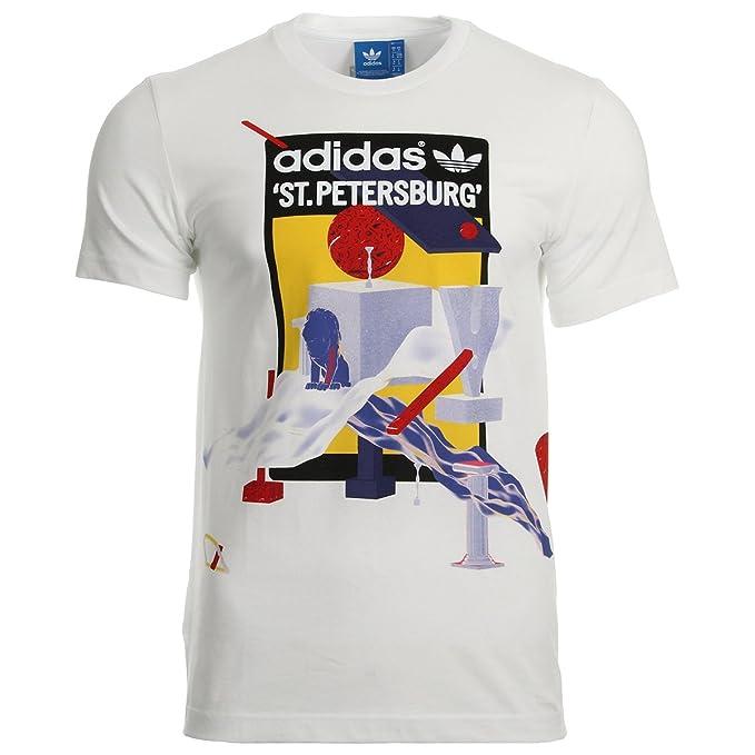 adidas Originals Camiseta - Para Hombre Blanco Blanco