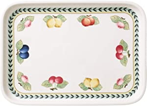 Villeroy & Boch French Garden Baking Rectangular Serving Plate/Lid, 14 x 10.25 in, White/Colorful