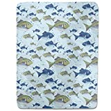 The North Sea Fish Fitted Sheet: Twin Luxury Microfiber, Soft, Breathable